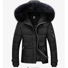 New Fashion Hot Sale Brand 2016 men's casual high quality with fur hat thick down outwear male slim warmness fit down jackets