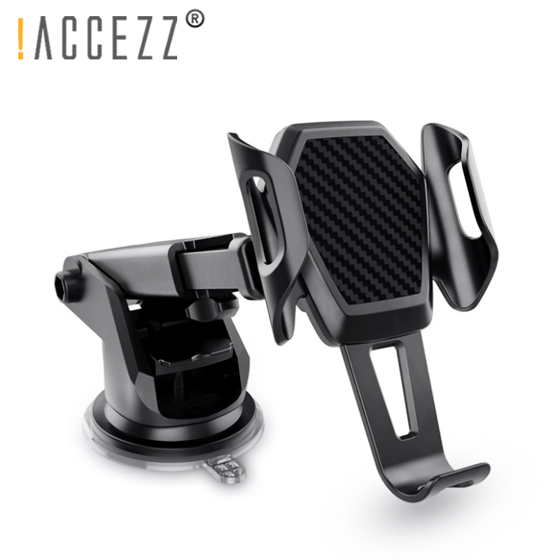 !ACCEZZ Car Phone Holder For IPhone XS MAX XR Xiaomi Huawei 360 Rotate Dashboard Windshield Car Mount Mobile Phone Holder Stand