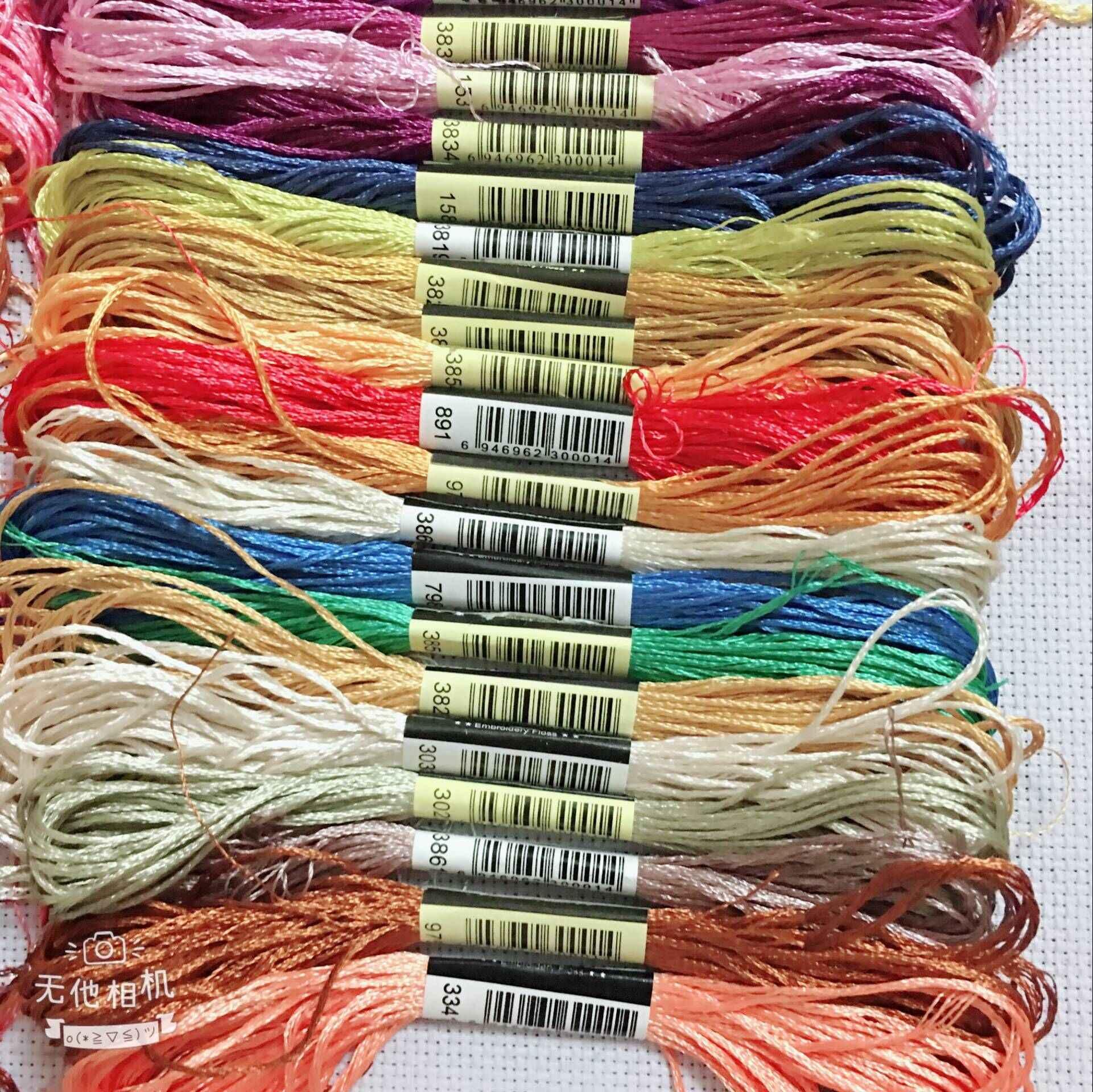 10/20/40/50 الحرير embroidery100 ٪ الحرير موضوع Spiraea embroide الحرير موضوع صغيرة العصي من تطريز يدوي عبر غرزة