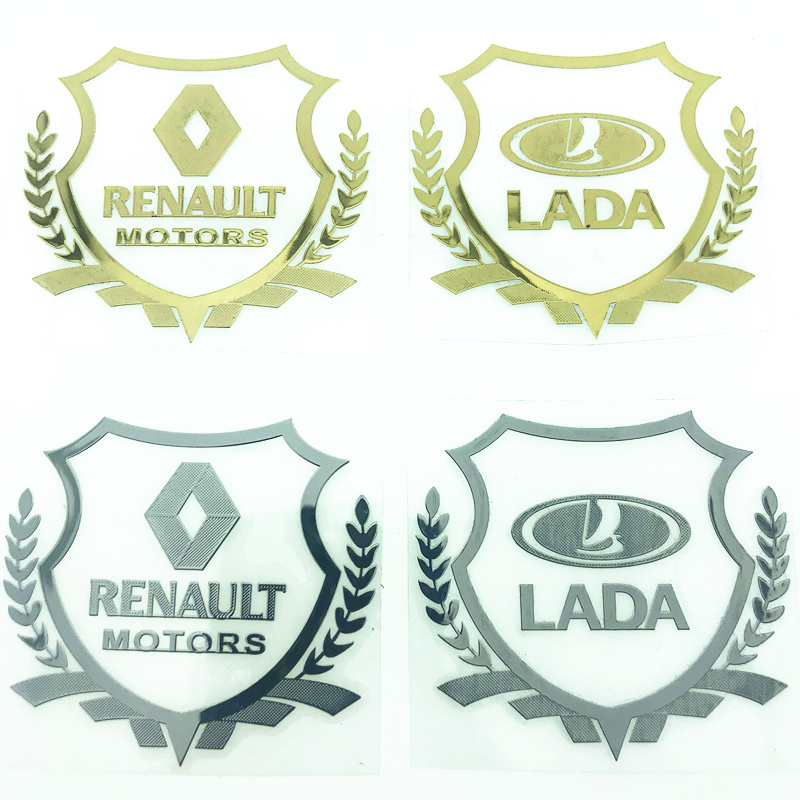 2pcs 3D Metal Car Sticker Emblem Badge Case For Renault Lada Opel  BMW Toyota Mercedes Benz Hyundai Honda Alfa Romeo Car Styling