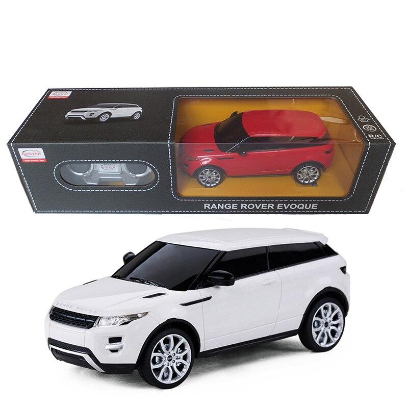 Лицензированный 1:24 Пульт дистанционного управления автомобиля RC игрушки Радиоуправляемые автомобили Мальчики игрушки машины на пульте дистанционного управления Rover Evoque 46900