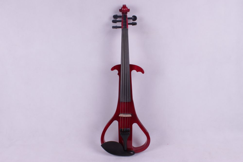 red 5 string  4/4 Electric Violin Silent Pickup Fine tone Solid wood3# the item is the color can choose color new 4 string 4 4 electric acoustic violin patent silent fine sound 1