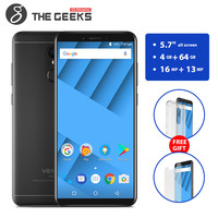 Vernee M6 5.7 inch 18:9 HD+ Screen 4GB RAM 64GB ROM Mobile Phone MTK6750 Octa core Android 7.0 Cell Phone 16MP 4G LTE Smartphone