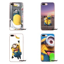 Silicone Phone Skin Case Cartoon Despicable Me Yellow Minions For Huawei Mate Honor 4C 5C 5X 6X 7 7A 7C 8 9 10 8C 8X 20 Lite Pro(China)