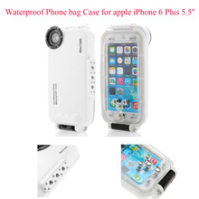 Meikon Waterproof Underwater Housing Diving Phone bag Case for apple iPhone 6 Plus 5.5'' Case for iPhone  6S Plus White color стоимость