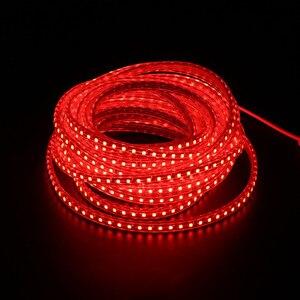 Image 4 - Commercio Allingrosso 100 M/lotto Luce di Striscia Del Led 220 240V SMD2835 120led/M Impermeabile Flessibile Fata Illuminazione Esterna Decorazione luci Al Neon