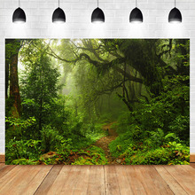 Background for Photo Forest Green Jungle Tree Grass Natural Photography Backdrops Studio Shoots