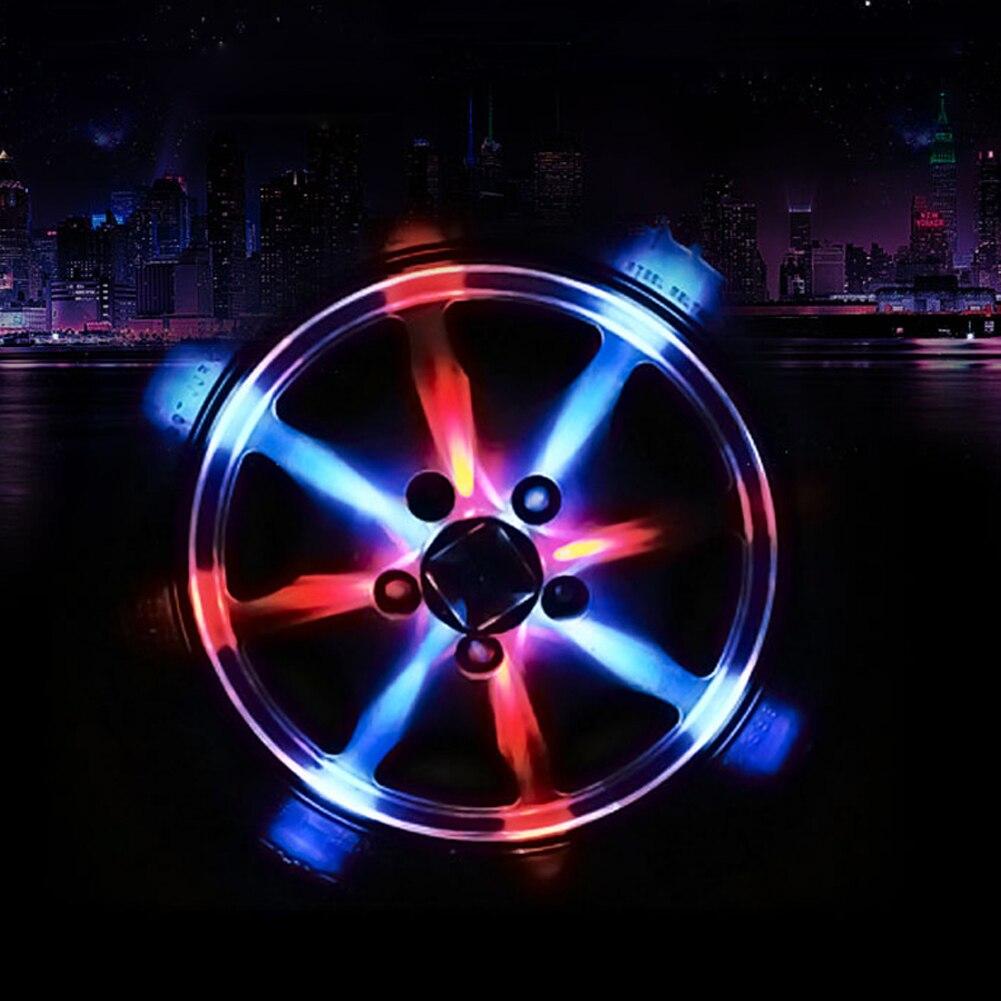 2pcs solar energy auto flash led car wheel decoration wheel hub auto styling boss light tire. Black Bedroom Furniture Sets. Home Design Ideas
