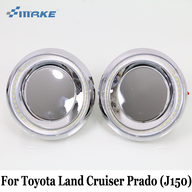 SMRKE DRL For Toyota Land Cruiser (150) 2013~Present / Car Daytime Running Light & Cornering Lamp / Car Styling Fog Lamp Frame car styling daytime running lights fog lamp drl led abs chrome for toyota land cruiser prado 2010 2011 2012 2013 accessories