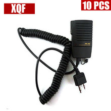 XQF 10PCS HM-46 Handheld Speaker Mic for ICOM IC-V8 V82 V85 IC-T2H T8A 2AT E90 W32A Radio(China)