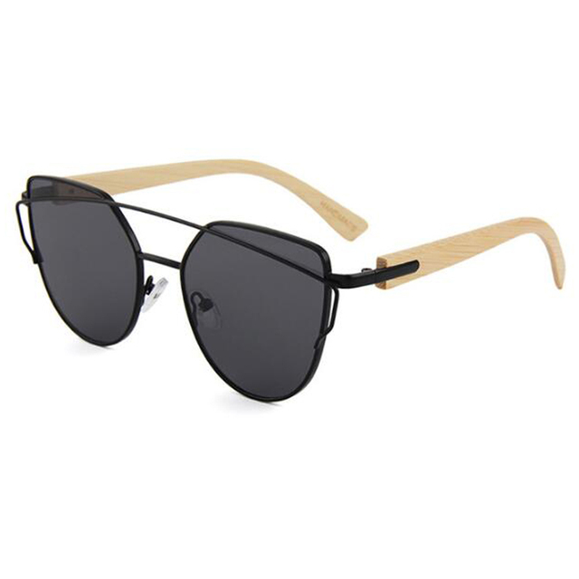Women's Designer Wooden Cateye Sunglasses