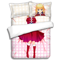 Japanese Anime Saber Fate/stay night Bed sheets Bedding Sheet Sets Comforter Quilt Cover Pillow Case 4PCS