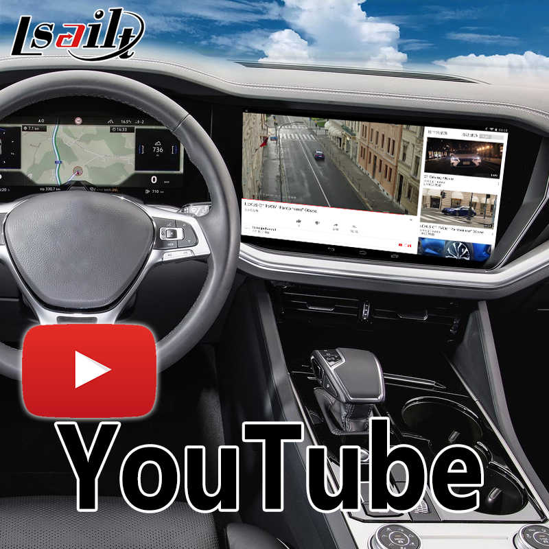 Android 6 0 GPS Navigation Box for Volkswagen Touareg RNS850 Video  Interface integration with WIFI , Mirrorlink , youtube
