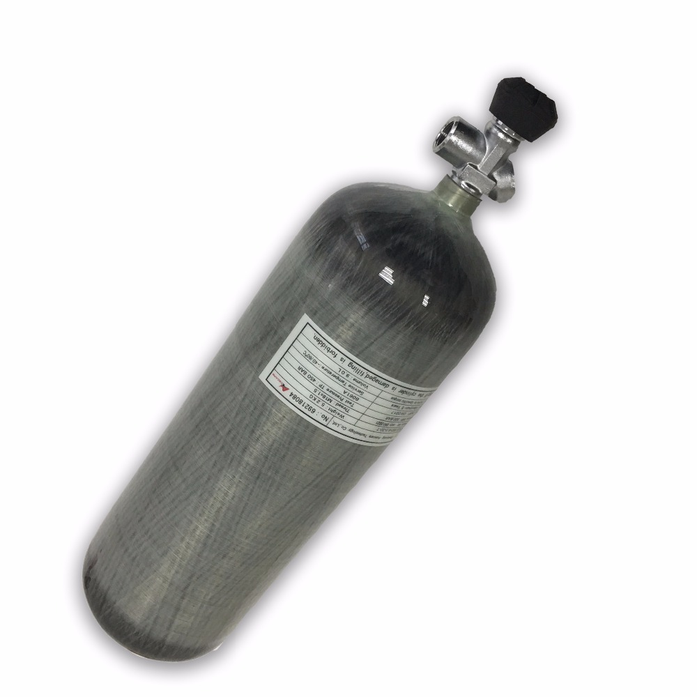 Acecare High Quality 9l Ce 4500psi Hp Carbon Fiber Scba Pcp Air Gun Inflate Tank Gas Cylinder With Air Valve Drop Shipping Extremely Efficient In Preserving Heat