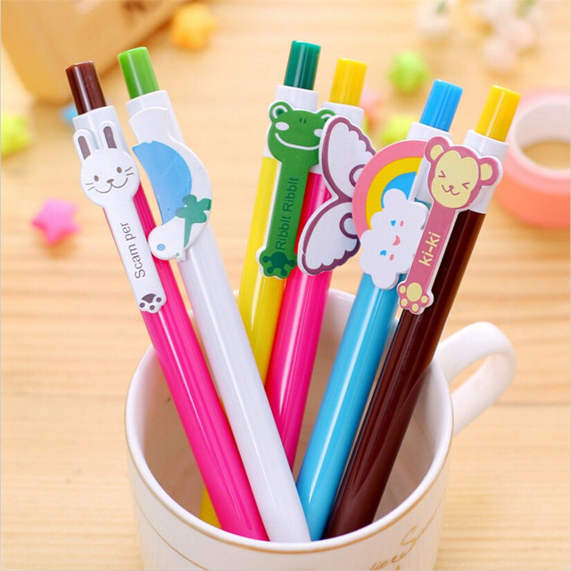 Hot Sale Animal Style Ballpoint Pens Lovely Cartoon Pen Korean Stationery Kwaii Caneta Papelaria Creative Office School Supplies
