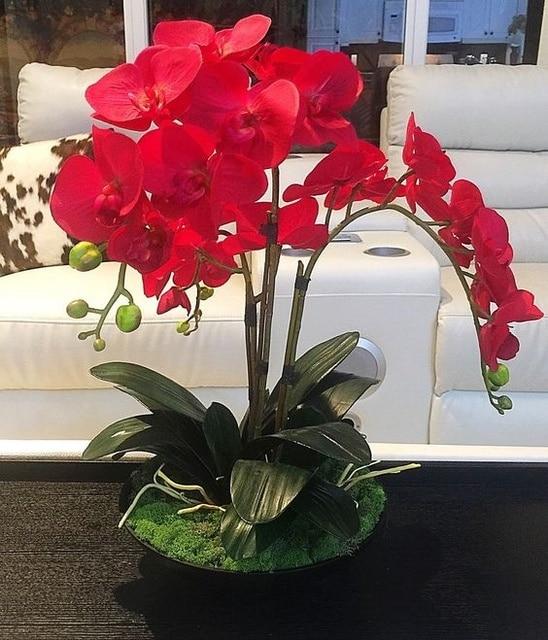 Indigo rot phalaenopsis orchideen 7 kpfe seide real touch indigo rot phalaenopsis orchideen 7 kpfe seide real touch orchideen dekorative hochzeit blumen orchid floral altavistaventures Images