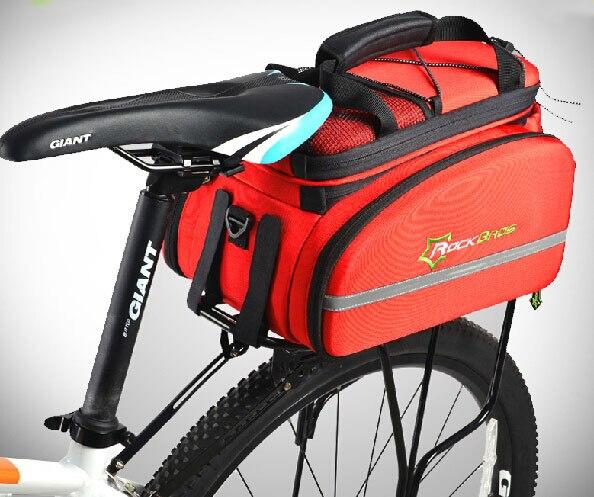 Malle sacoche vélo arrière sac de transport vélo polyvalent sac de voyage sac de selle de vélo