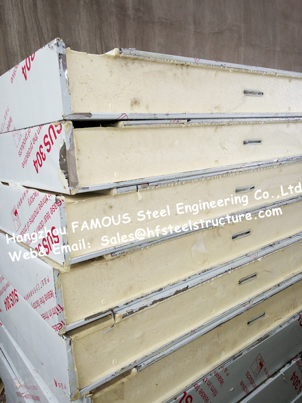 Typical Insulation Material Pu Cold Room Panel And Sandwich Cooler Panel For Polyurethane Freezer And Cold Storage System