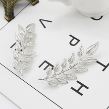 1 Pair Exquisite Leaf Brooch Pin