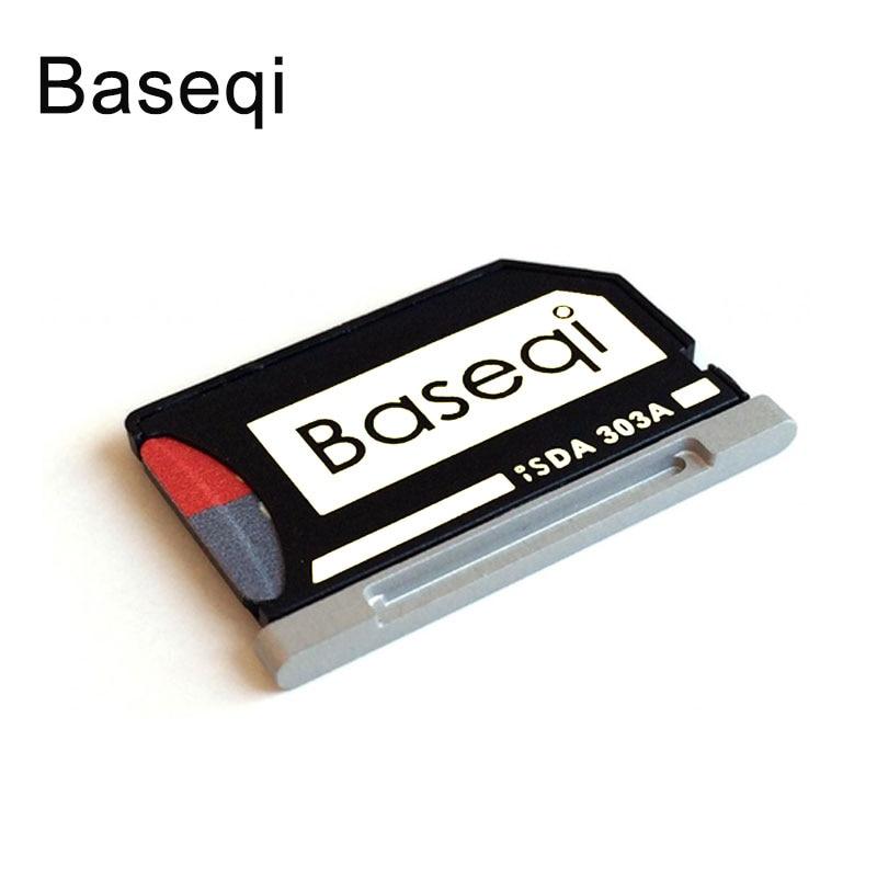 Baseqi metal minidrive cartão adaptador microsd/leitor tf para macbook pro retina 13 polegada 2012 2013 2014 2015 portátil 303a ninjadrive