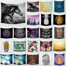 Unicorn horse tapestry owl pineapple elephant  wall hanging tapestry home decoration large rectangle bedroom wall tapestry home decor elephant print wall hanging tapestry