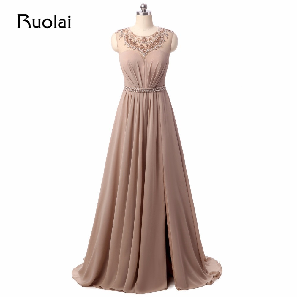 New Arrival Long Mother Of The Bride Dresses Brown 2017