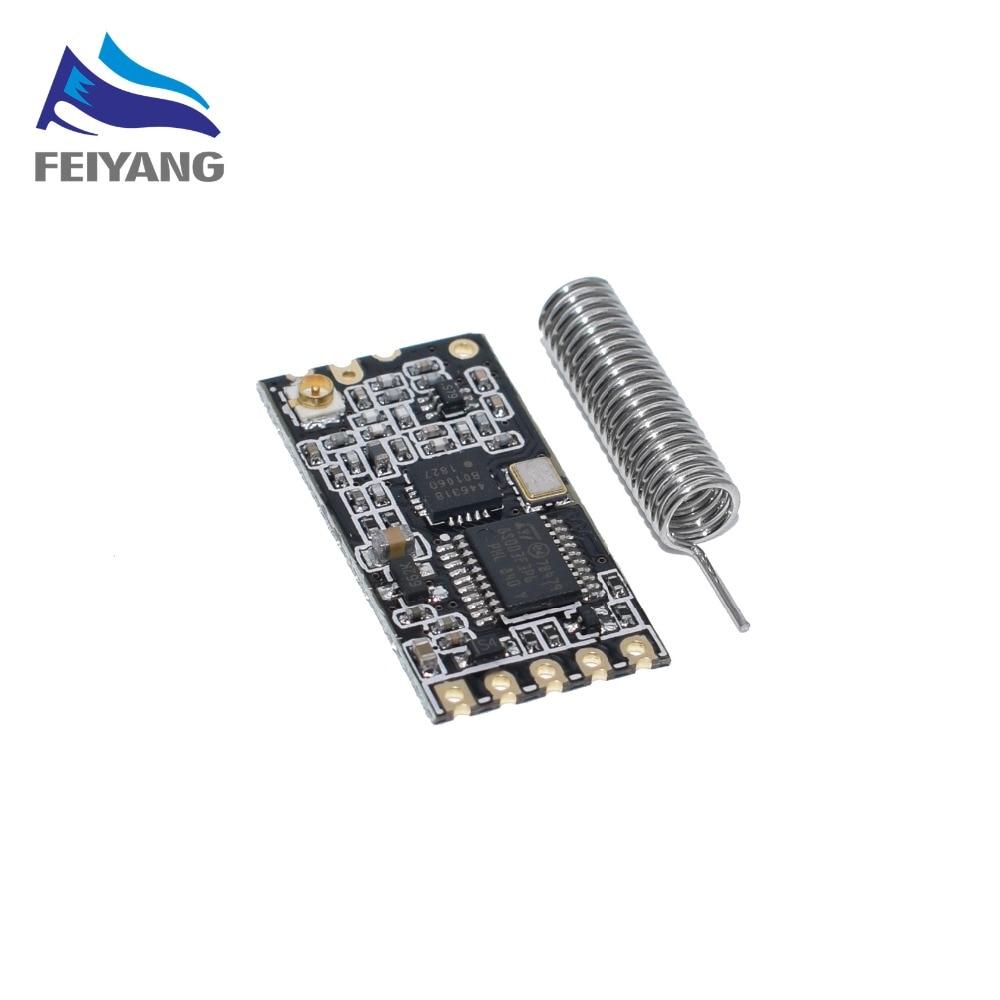 HC-12 noir SI4463 microcontrôleur sans fil série, 433 longue portée, 1000M avec antenne pour Bluetooth