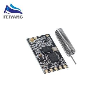 Schwarz HC-12 SI4463 drahtlose mikrocontroller serielle, 433 lange-palette, 1000M mit antenne für Bluetooth