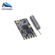 black HC-12 SI4463 wireless microcontroller serial, 433 long-range, 1000M with antenna for Bluetooth(China)