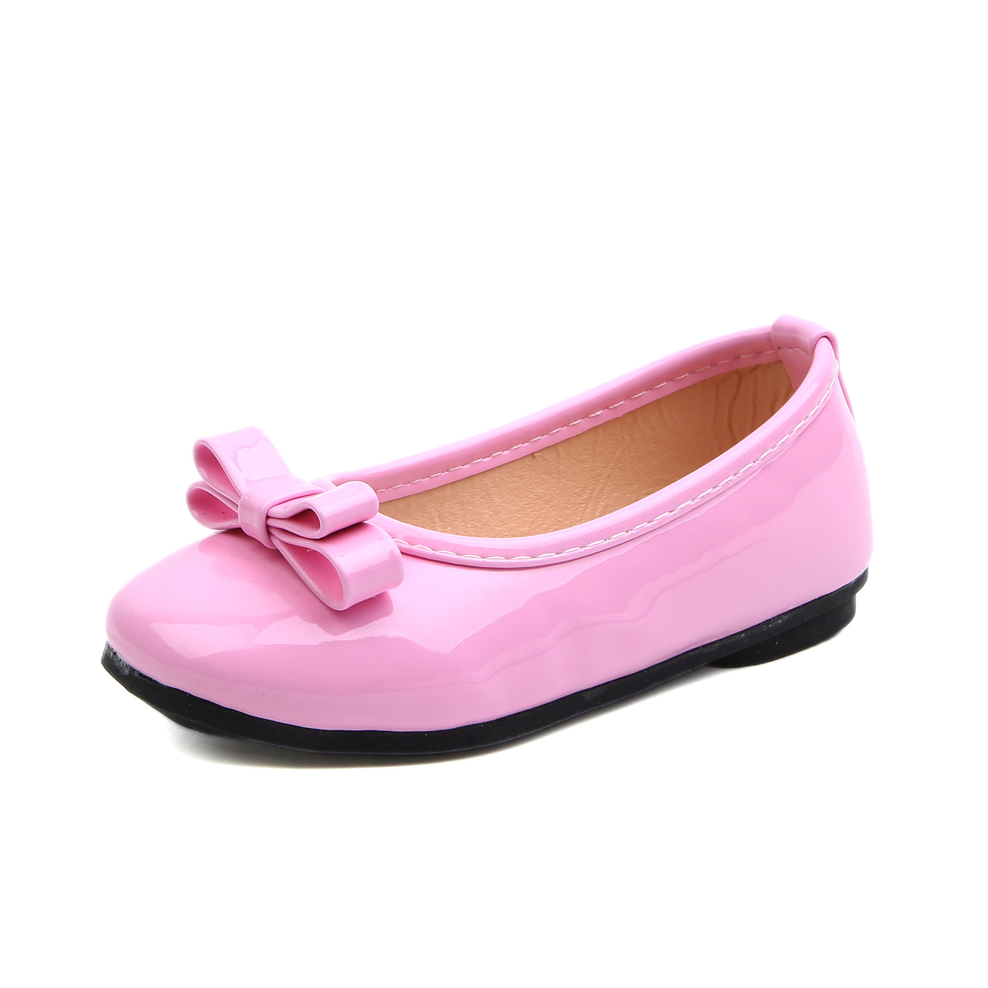 COZULMA 2019 Baby Girl Leather Shoes Kids Children Fashion Shoes Girls Princess Dress Shoes Candy Color Bow Party Dance Shoes in Sneakers from Mother Kids