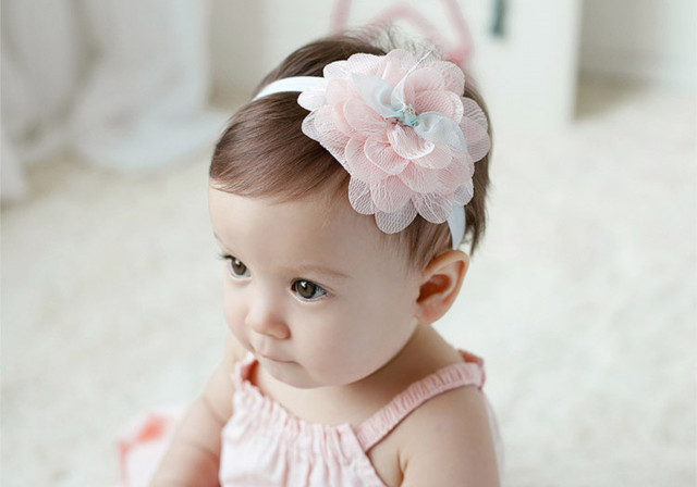 Kids baby meisje leuke peuter bloem opperste hoofdband bebe infant
