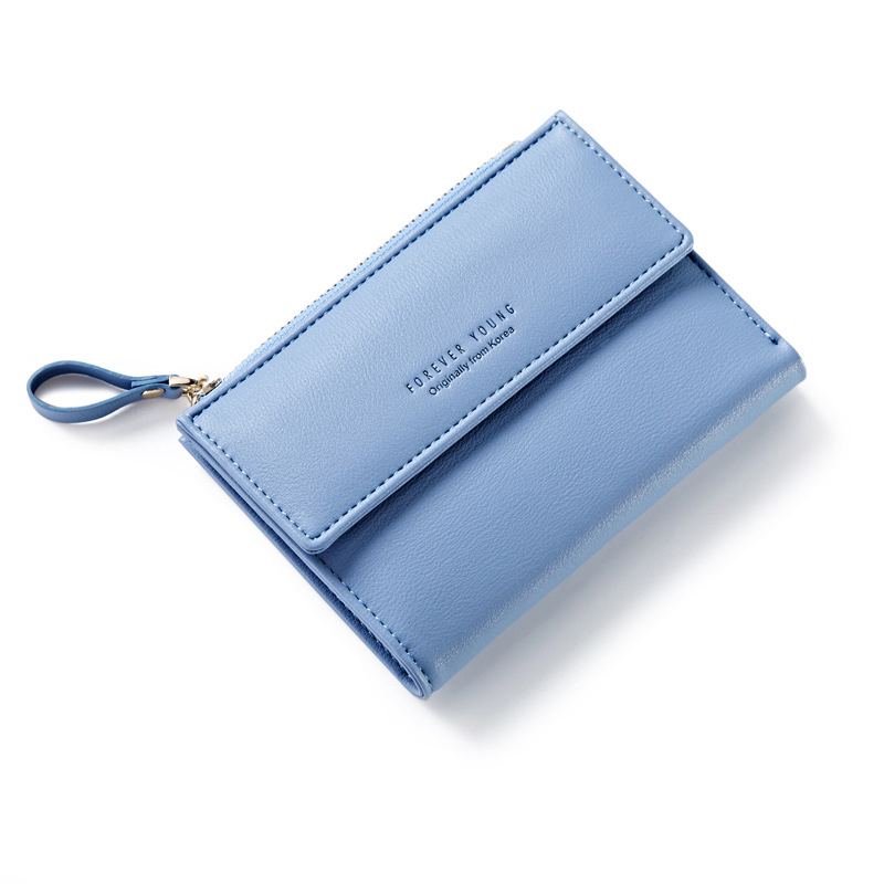 Forever Young Female Wallet Women Short Coin Card Holder Ladies Money Bag Purse Carteira Slim Small Wallet Woman Fresh Fashion