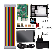 Raspberry Pi 3 Модель B Starter Kit + 1 акриловый чехол + 2.5a Питание + кабель USB + вентилятор + GPIO ADAPTE