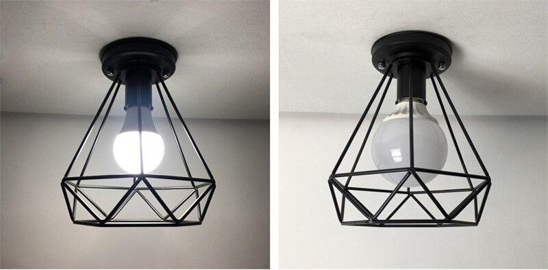 Vintage Ceiling Lamp For Living Room Bedroom Nordic Wrought Iron Retro Corridor Aisle For Living Room Bar Ceiling Light