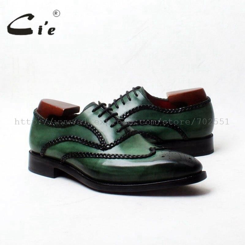 Мужские туфли-оксфорды ручной работы, из натуральной телячьей кожи, темно-зеленого цвета, № OX552