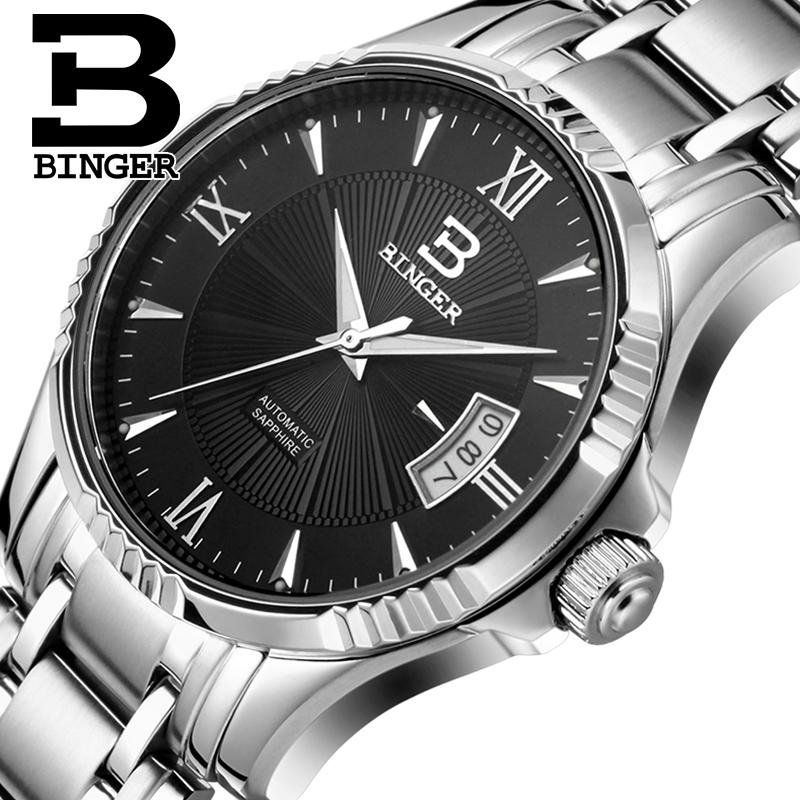 где купить Switzerland Men's Watch BINGER Watch Men Luxury Brand Men Watches Automatic Mechanical relogio masculino sapphire Wrist B5011-8 по лучшей цене