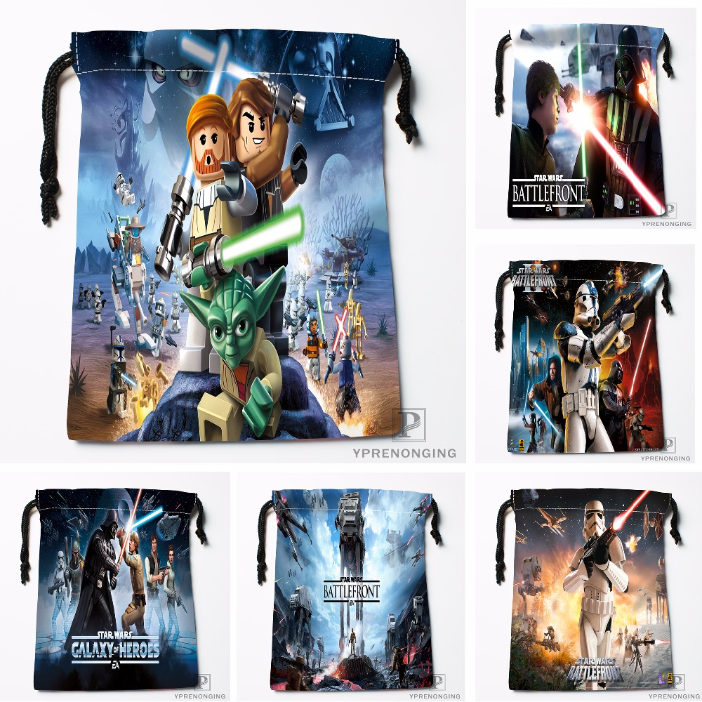 Custom Star Wars Drawstring Bags Printing Travel Storage Mini Pouch Swim Hiking Toy Bag Size 18x22cm#180412-11-33