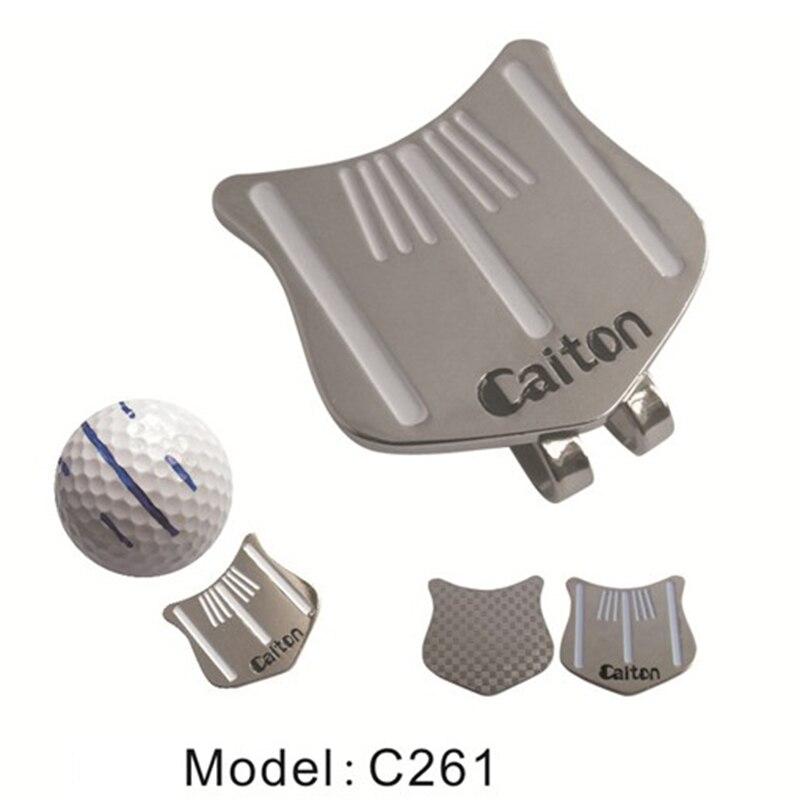 Golf Cap Clip Golf Ball Aiming