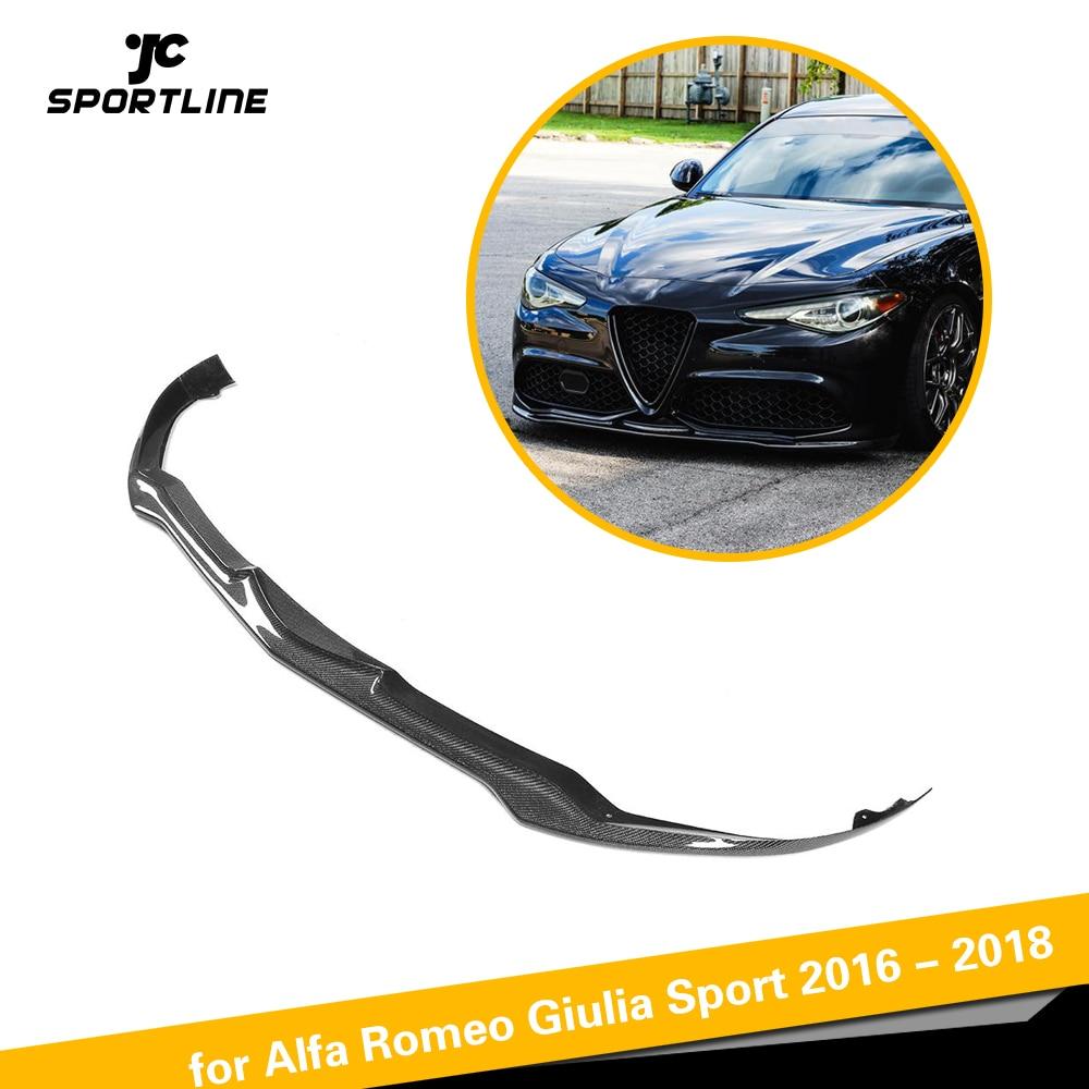 Carbon Fiber / FRP Car Front Lip Spoiler Bumper Guard Protector for Alfa Romeo Giulia Sport 2016 2017 2018 Car Styling
