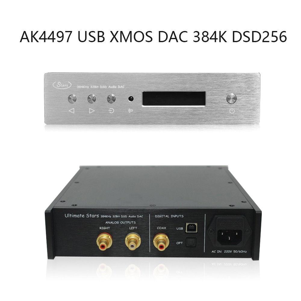 Nobsound AK4497 USB XMOS DAC Audio Decoder Digital to Analog Converter 384K/24Bit DSD256 nobsound dual ak4495 usb dac audio decoder dsd xmos xu208 digital to analog converter