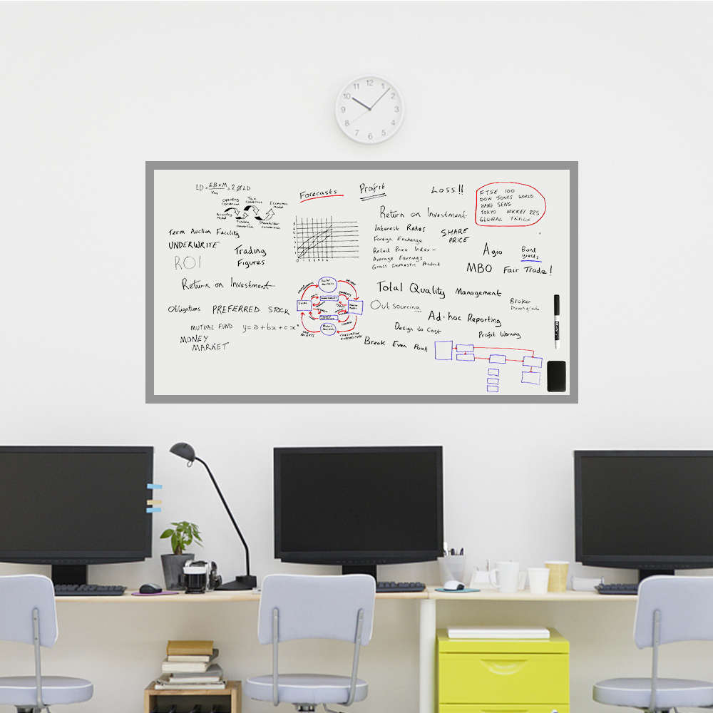 Bekend Zelfklevende Whiteboard Sticker 80x50 cm x 0.6mm voor muur Zachte #QJ66
