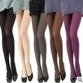 2016 Mulheres Collants Thermo Thermo Fleece Forrado de Microfibra 120D Meia-calça na Cor Sólida Preto Super Macia e Quente Meias