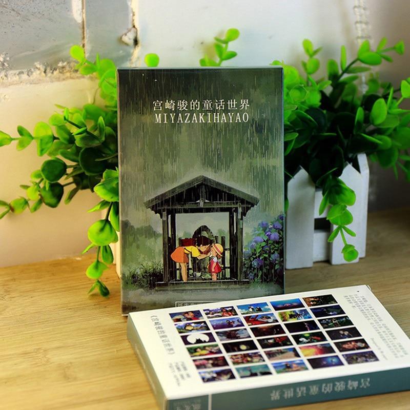 30sheets/LOT Hayao Miyazaki Oil Painting Postcard Hayao Miyazaki Postcards/Greeting Card/wish Card/Fashion Gift