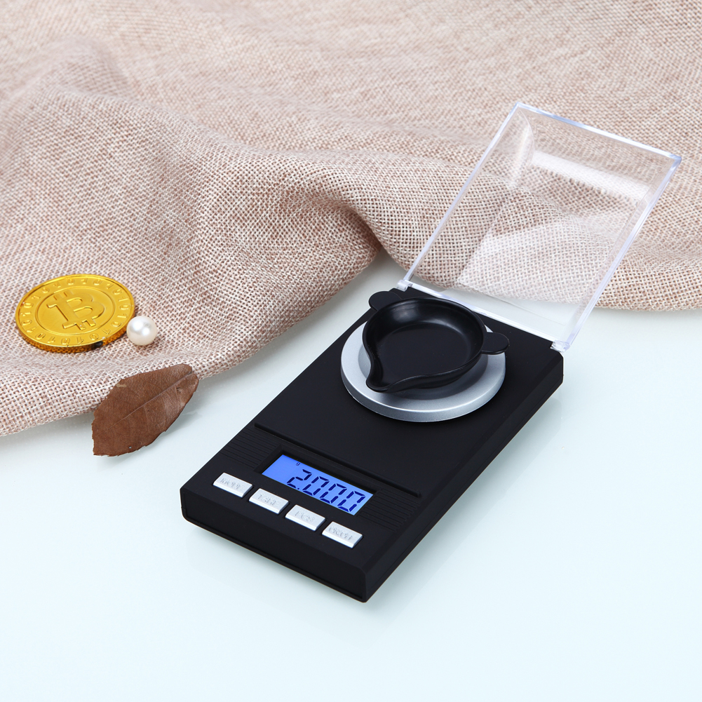 20g/0.001g LCD Digital Jewelry Scales Lab Digital Pocket Electronic Scale Medicinal Jewelry High Precision Weight Measuring Tool newacalox 50g 0 001g portable mini jewelry scales lab weight high precision scale medicinal use lcd digital electronic balance