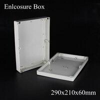 1 Piece Lot 290 210 60mm Grey ABS Plastic IP65 Waterproof Enclosure PVC Junction Box