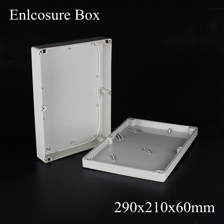 (1 piece/lot) 290*210*60mm Grey ABS Plastic IP65 Waterproof Enclosure PVC Junction Box Electronic Project Instrument Case waterproof abs plastic electronic box white case 6 size