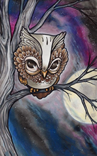 5D DIY Diamond Painting Cartoon Owl On the Tree Full Square  Embroidery Mosaic Rhinestones Animal