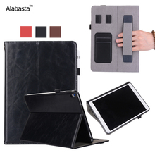 Alabasta For New iPad Cover 2017 Shockproof Flip Stand Case Card pouch Pocket Luxury Leather Silicone Protection With stylus