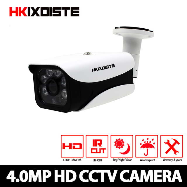 CCTV Camera CCD Sensor 2560*1440P 4MP IR Cut Filter AHD Camera  Indoor / Outdoor Waterproof 3.6mm Lens Security 4.0MP Camera