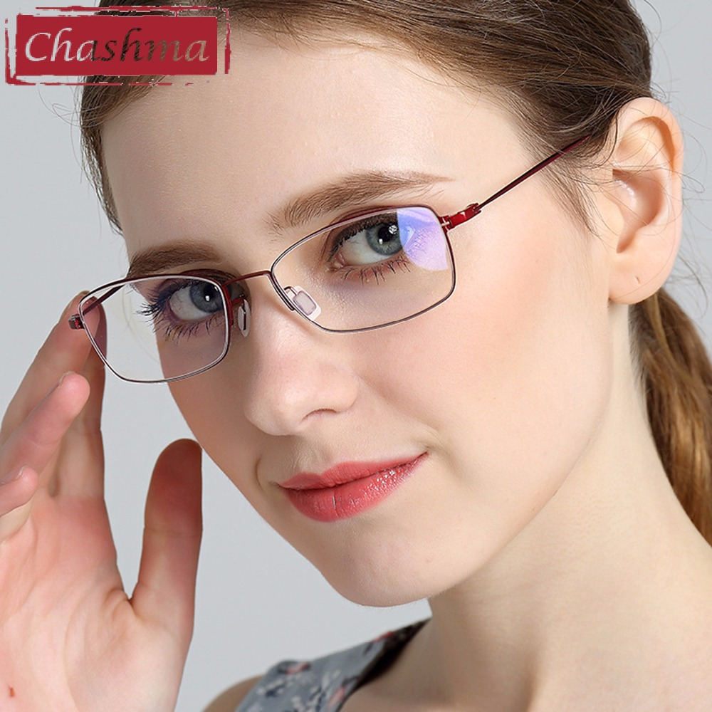 Chashma Brand Eye Glasses Women B Titanium Glasses Luxury Top Quality Frames Myopia Glasses Frame Light